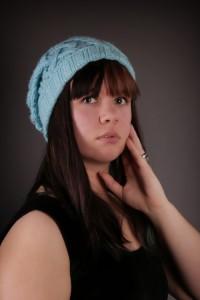 Blue Cable Hat 2