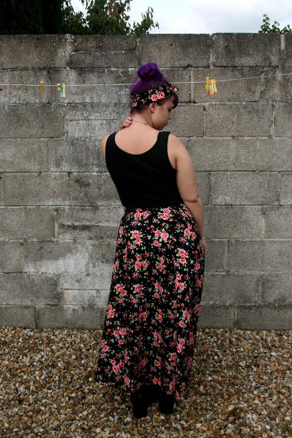 Floral Skirt Back