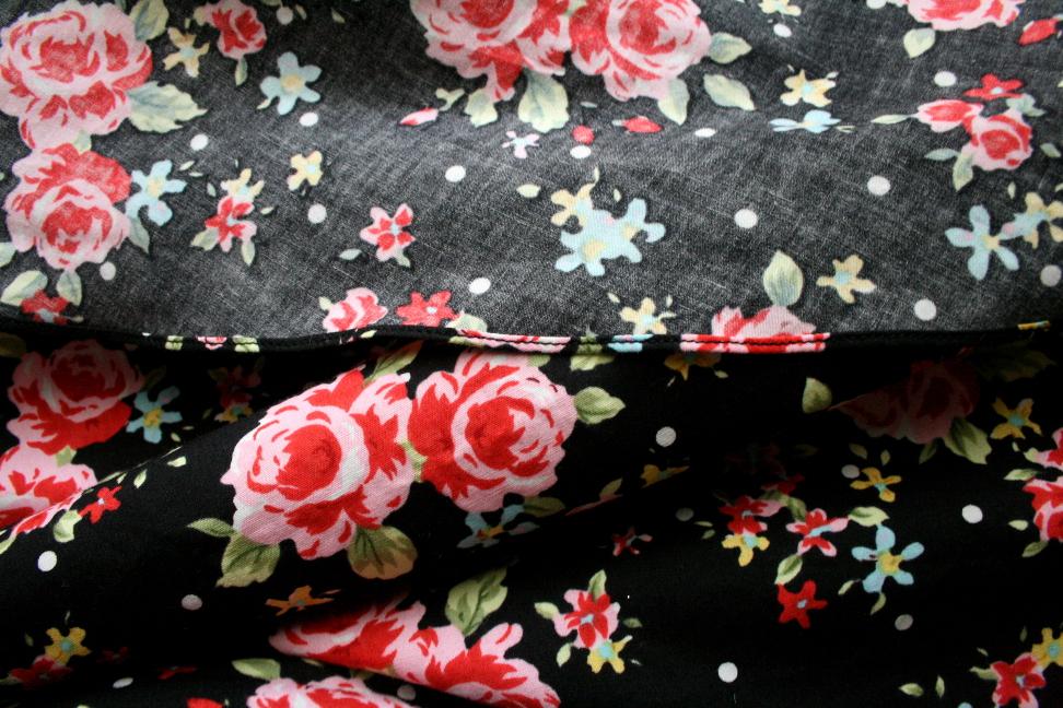 Floral Skirt Hem Detail