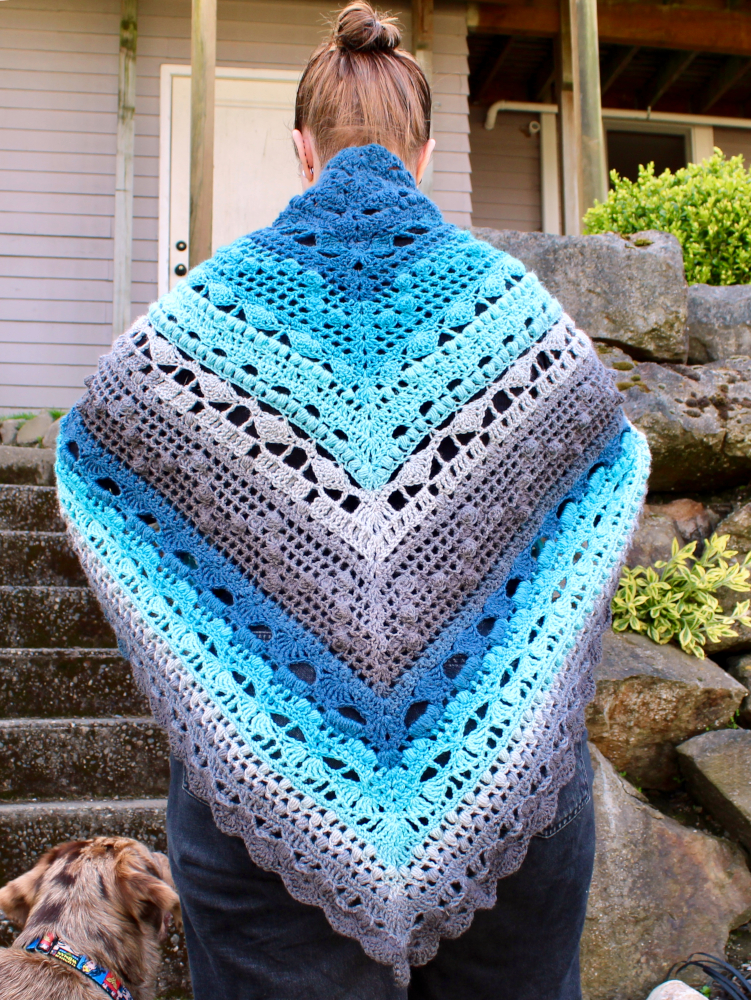 solstand shawl back wrapped