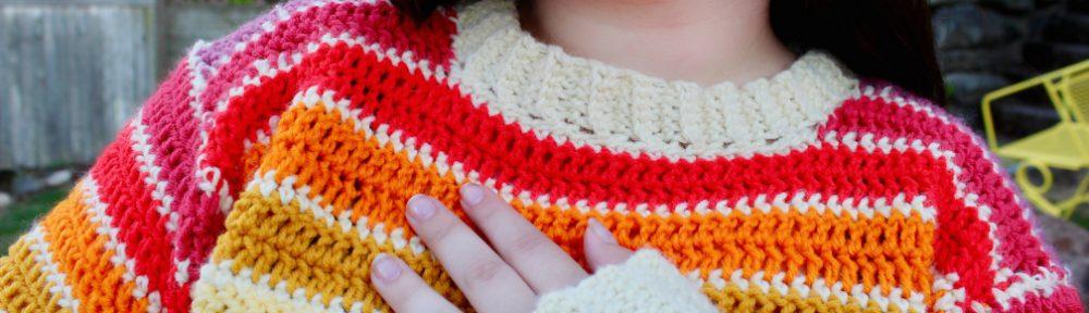 Close Up Scrappy Stripes Sweater